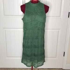 Miami Green Lace Dress Sz M